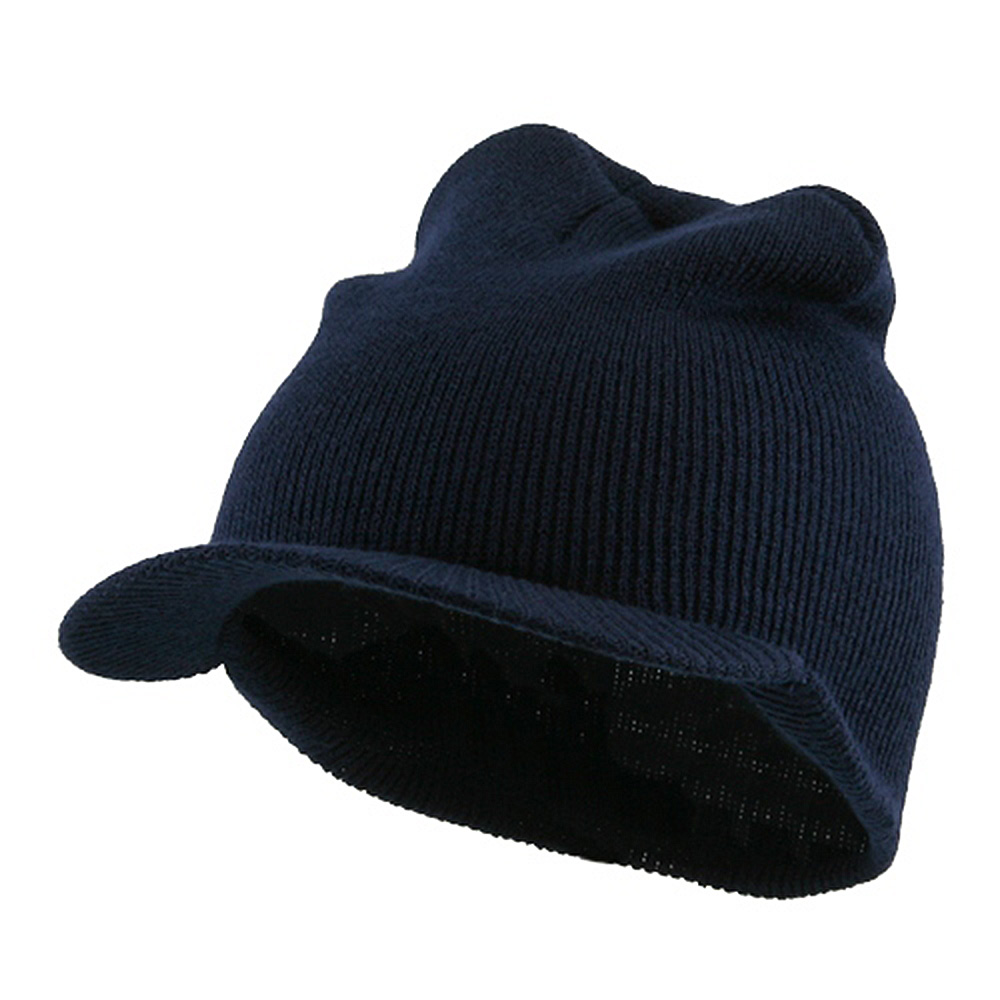 Cuffless Beanie Sports Visor-Navy - Hats and Caps Online Shop - Hip Head Gear