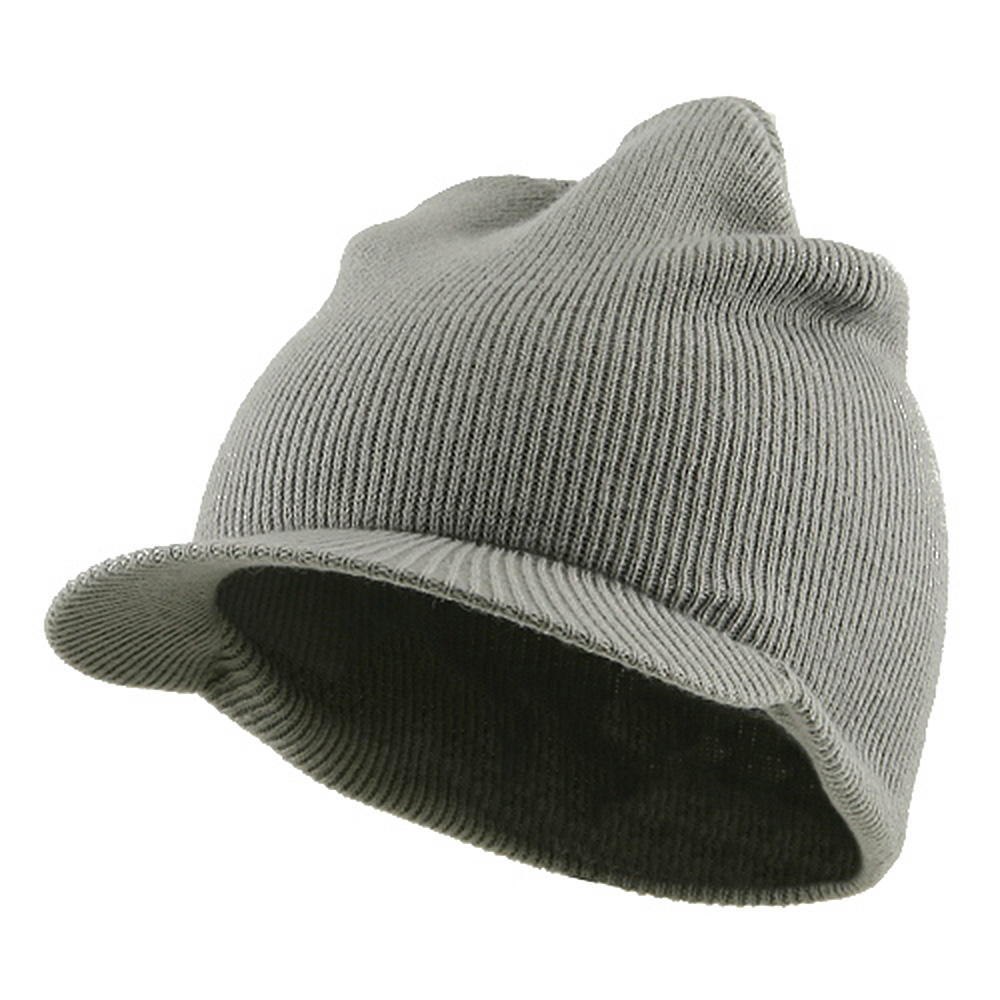 Cuffless Beanie Sports Visor-Grey - Hats and Caps Online Shop - Hip Head Gear