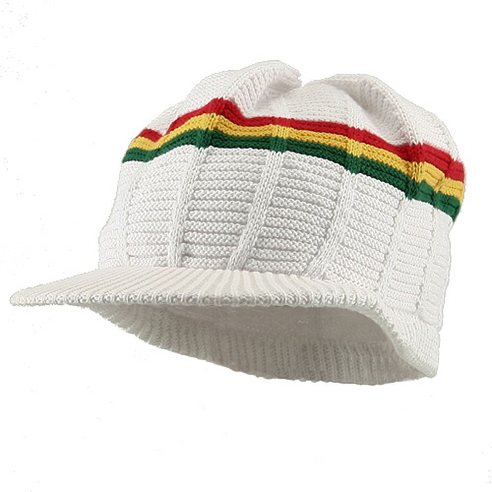 New Rasta 93 RGY Visor Hat - White RGY - Hats and Caps Online Shop - Hip Head Gear