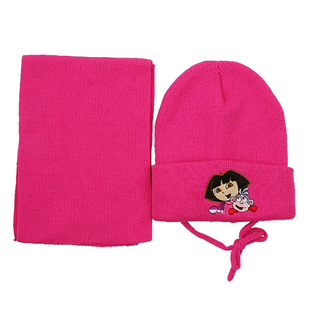 Dora Beanies Scarf Set-Fuchsia - Hats and Caps Online Shop - Hip Head Gear