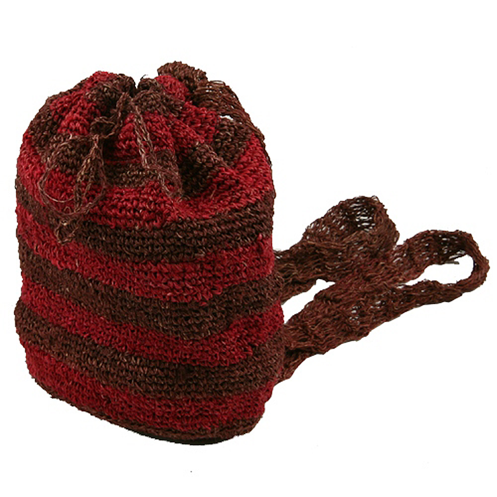 Hemp Crocheted Back Pack - Crocheted