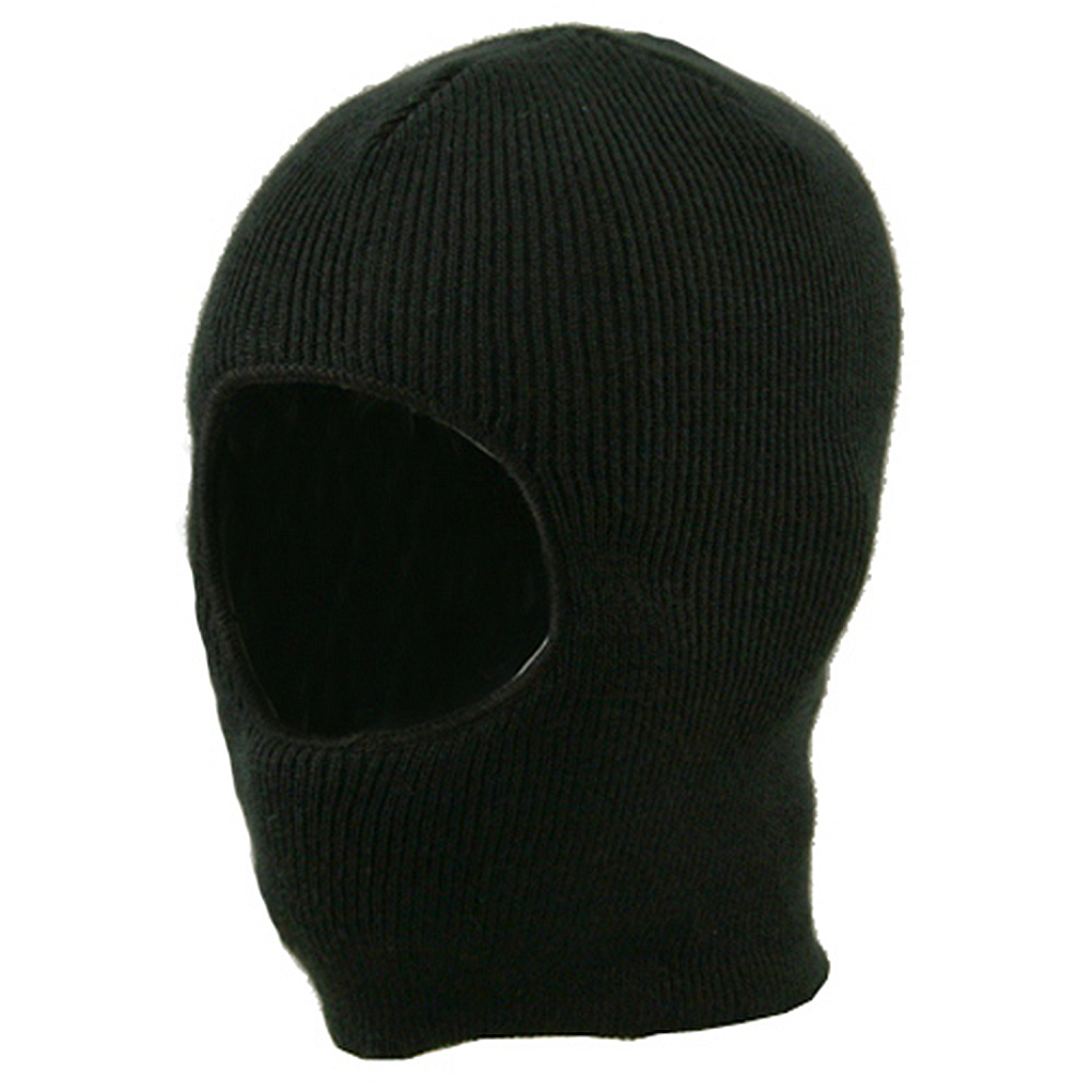 One Hole Child Face Mask  - Black - Hats and Caps Online Shop - Hip Head Gear