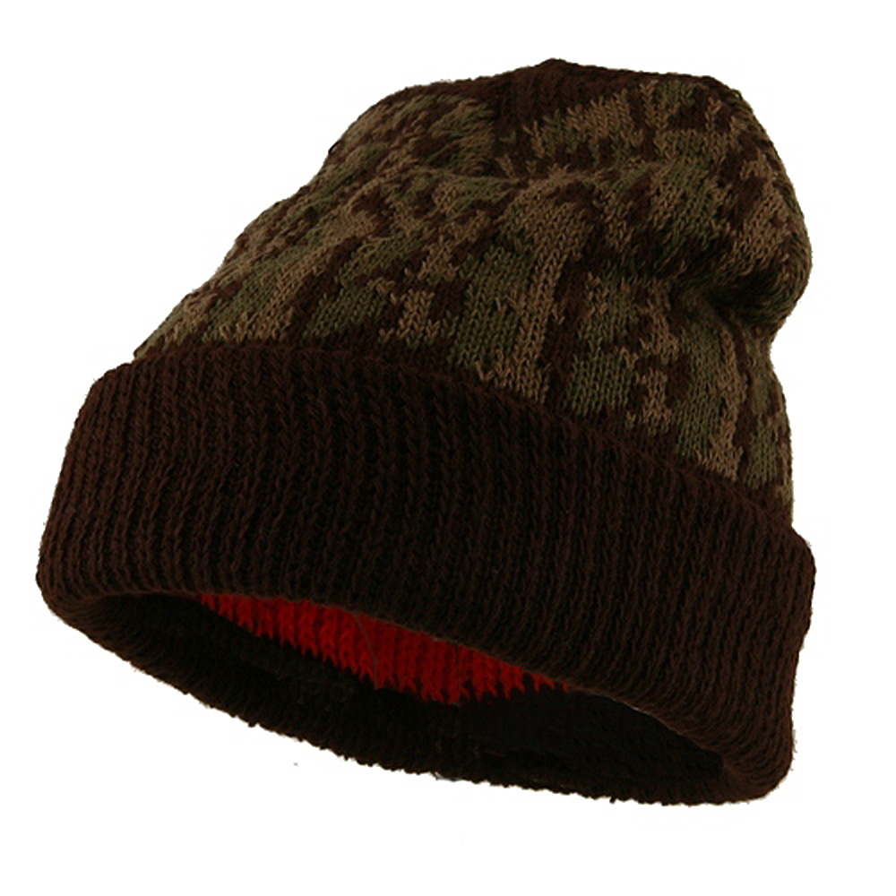 Blaze Liner Camo Cuff Beanie - Brown Camo - Hats and Caps Online Shop - Hip Head Gear