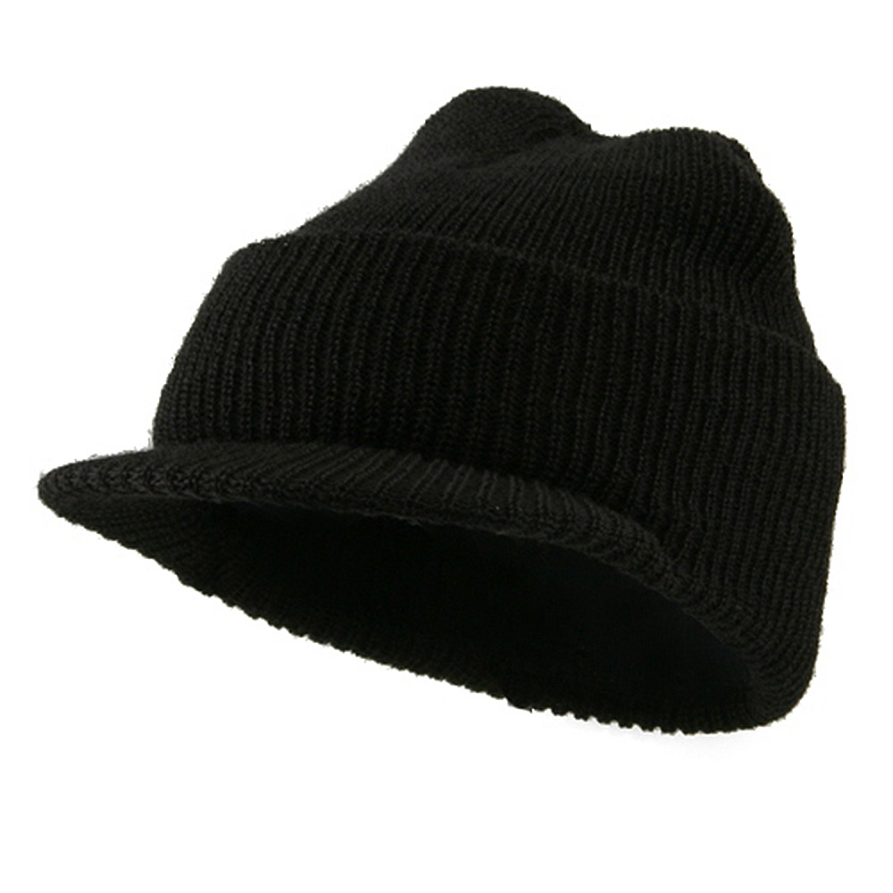 Military Wool Jeep Cap - Black - Hats and Caps Online Shop - Hip Head Gear