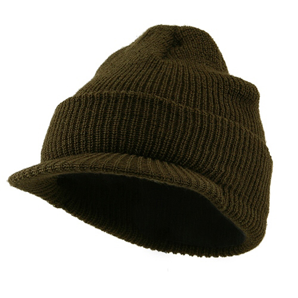 Military Wool Jeep Cap - Olive - Hats and Caps Online Shop - Hip Head Gear