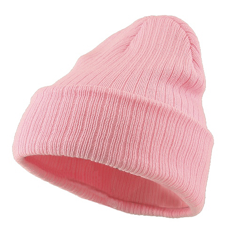 Acrylic Ribbed Cuff Beanie - Pink - Hats and Caps Online Shop - Hip Head Gear