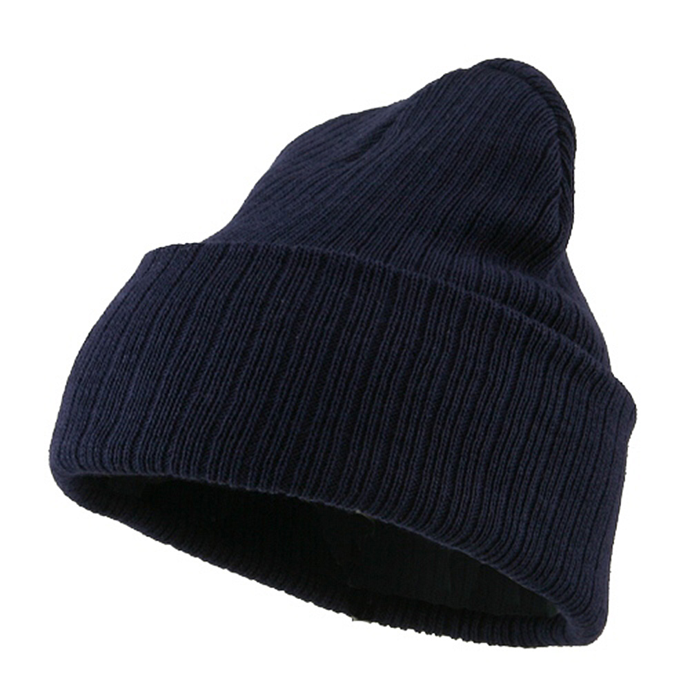 Acrylic Ribbed Cuff Beanie - Navy - Hats and Caps Online Shop - Hip Head Gear
