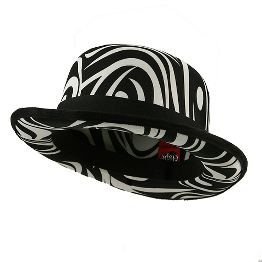Top Hat - Bowler White Black - Hats and Caps Online Shop - Hip Head Gear