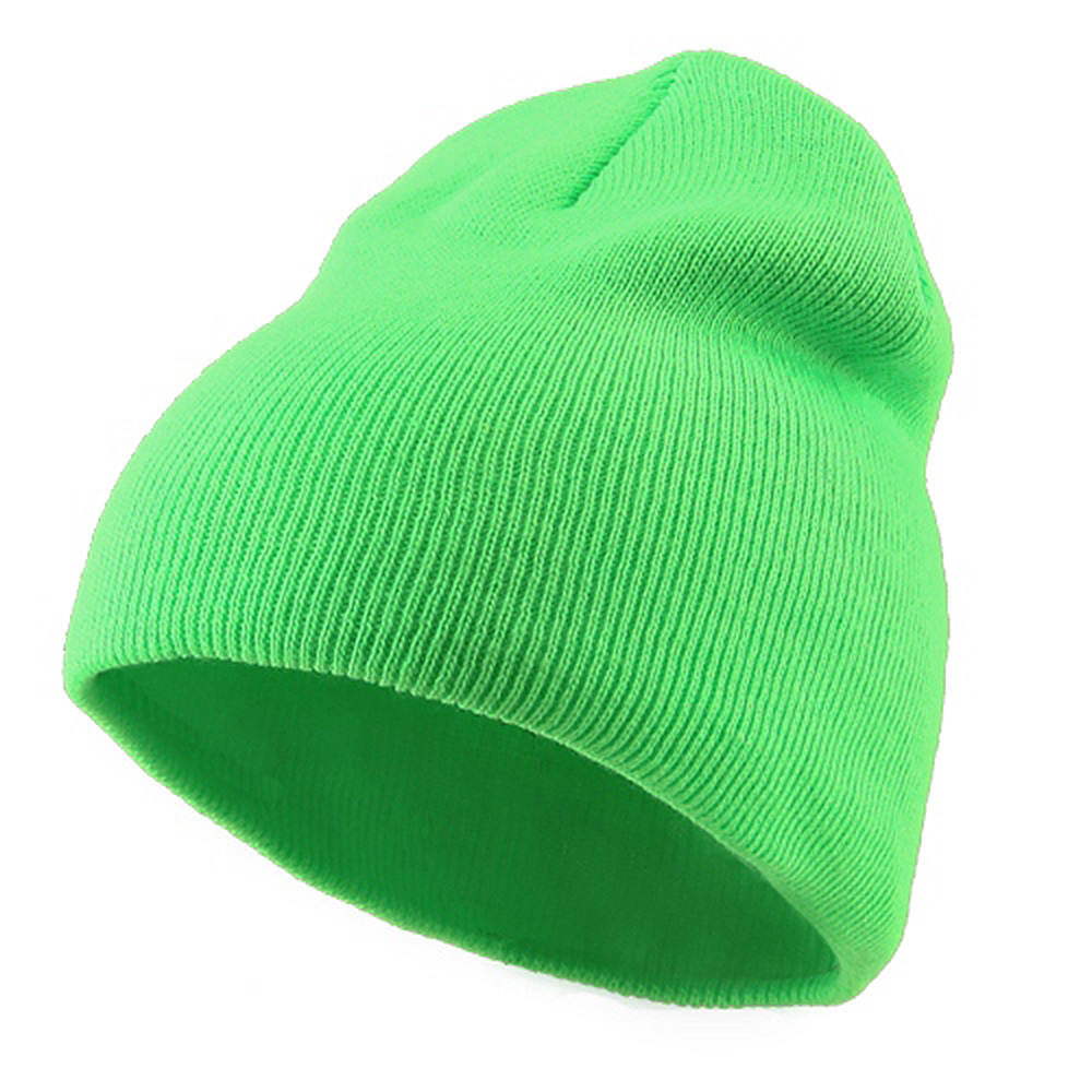 Classic Safety Short Beanie - Lime - Hats and Caps Online Shop - Hip Head Gear