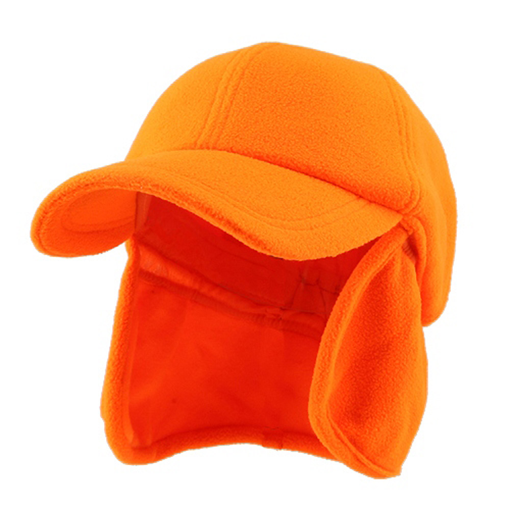 Fleece Earflap Ball Cap - Orange - Hats and Caps Online Shop - Hip Head Gear