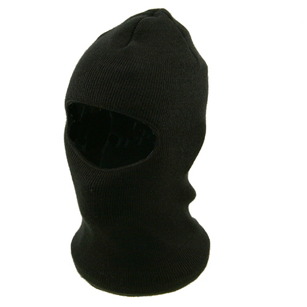 Fleece Lined Face Mask - Black - Hats and Caps Online Shop - Hip Head Gear