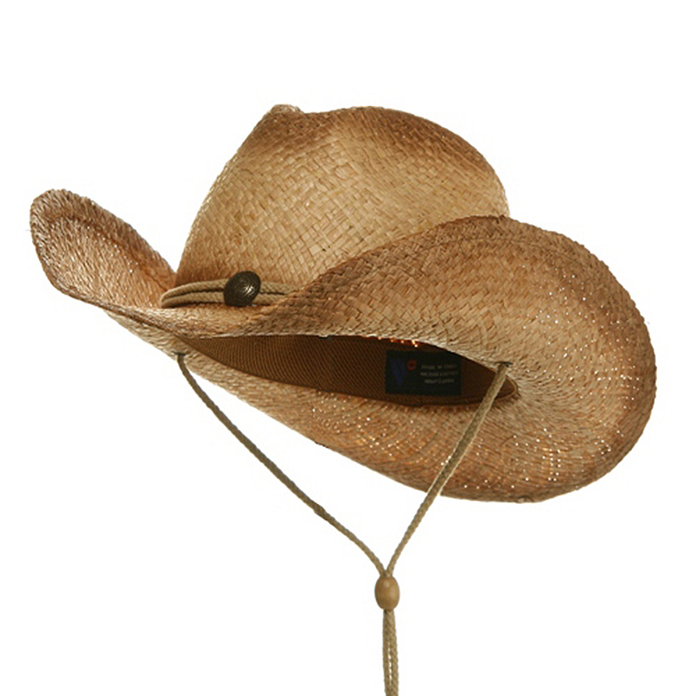 Outback Tea Stained Raffia Straw Hat-Natural Off Tea Stains Plain - Hats and Caps Online Shop - Hip Head Gear