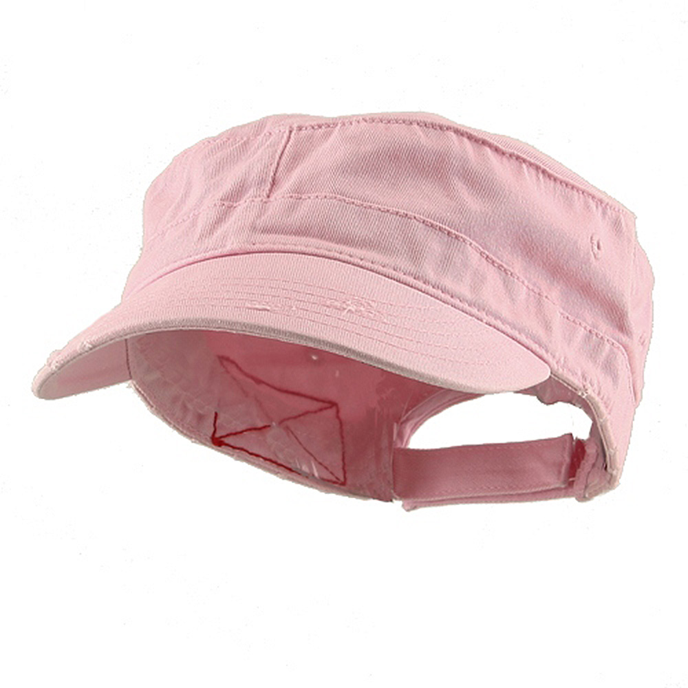 Enzyme Frayed Solid Army Caps-Pink - Hats and Caps Online Shop - Hip Head Gear
