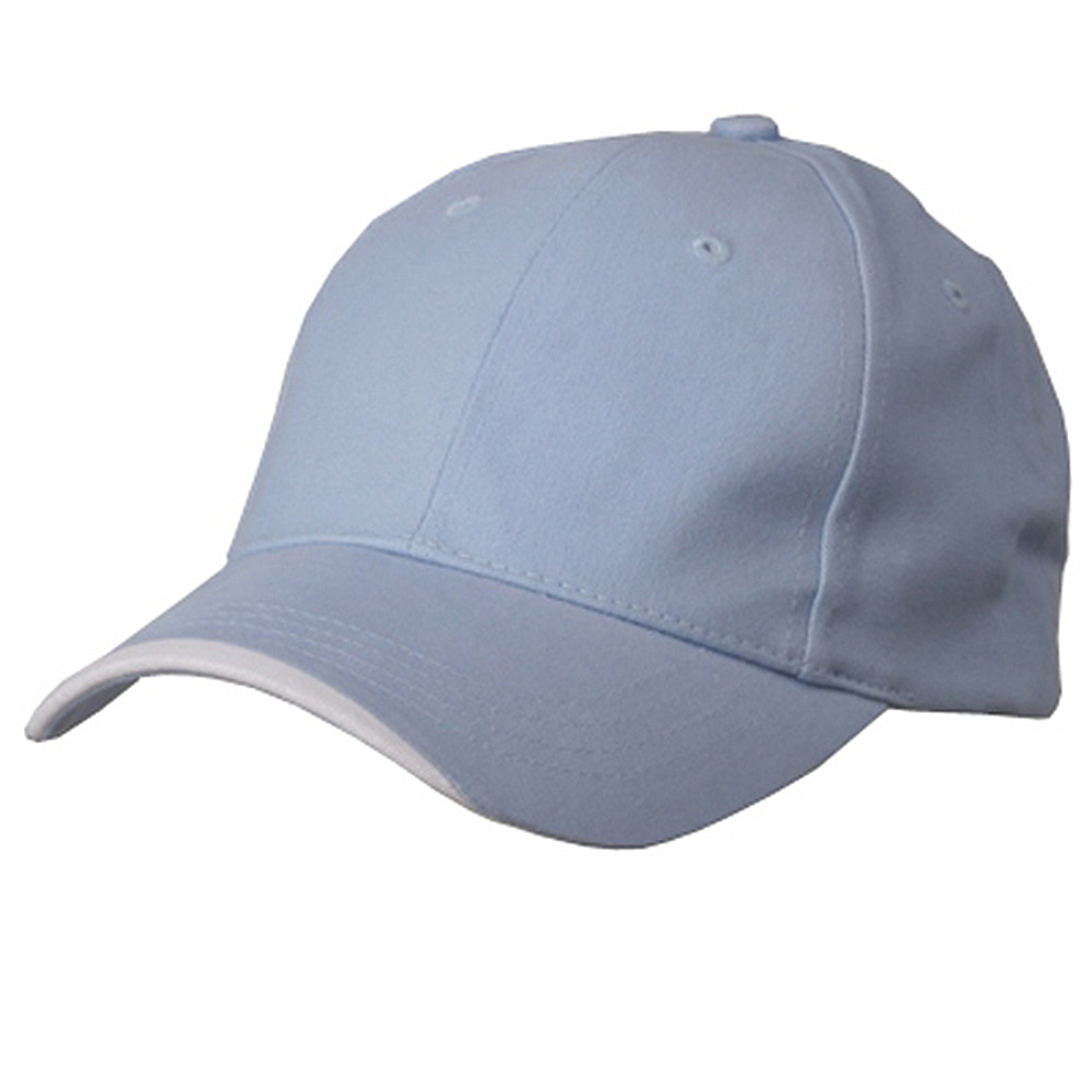 Deluxe Brushed Cotton Twill Caps-Blue White - Hats and Caps Online Shop - Hip Head Gear