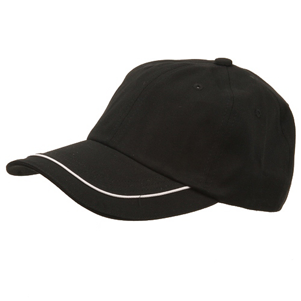 Deluxe Long Bill Cap-Black