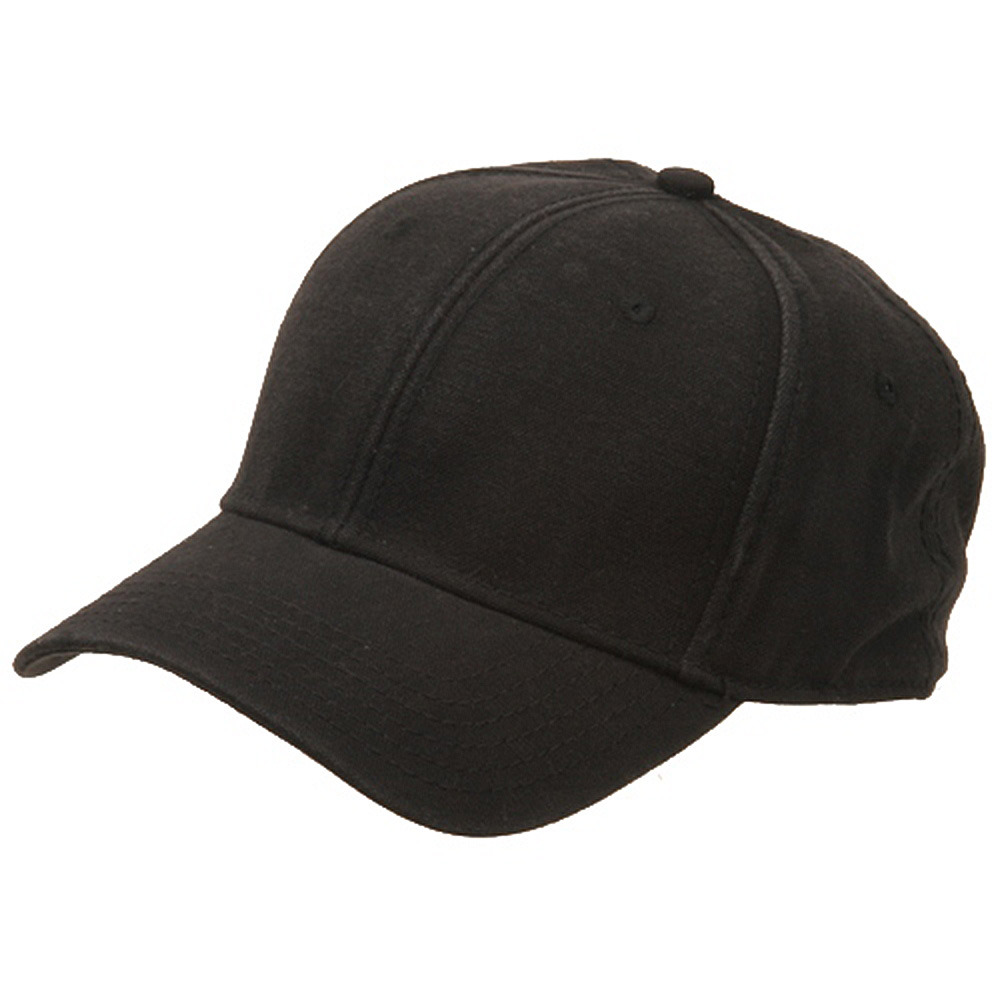 Brushed Cotton Canvas Cap-Black - Hats and Caps Online Shop - Hip Head Gear