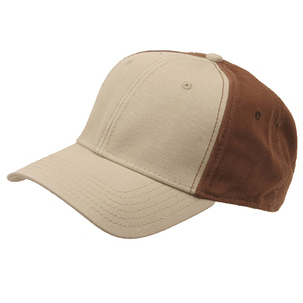 Brushed Cotton Canvas Cap-Khaki Brown - Hats and Caps Online Shop - Hip Head Gear