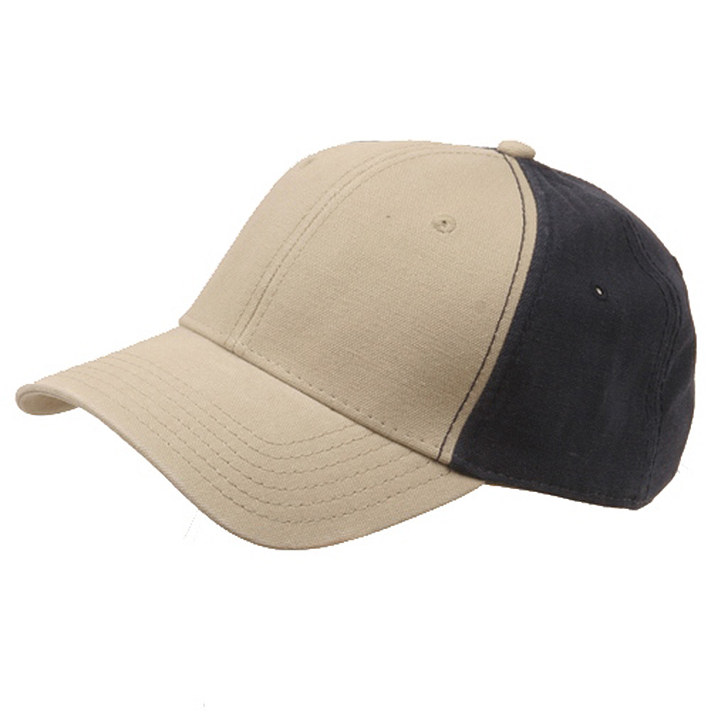 Brushed Cotton Canvas Cap-Khaki Navy - Hats and Caps Online Shop - Hip Head Gear