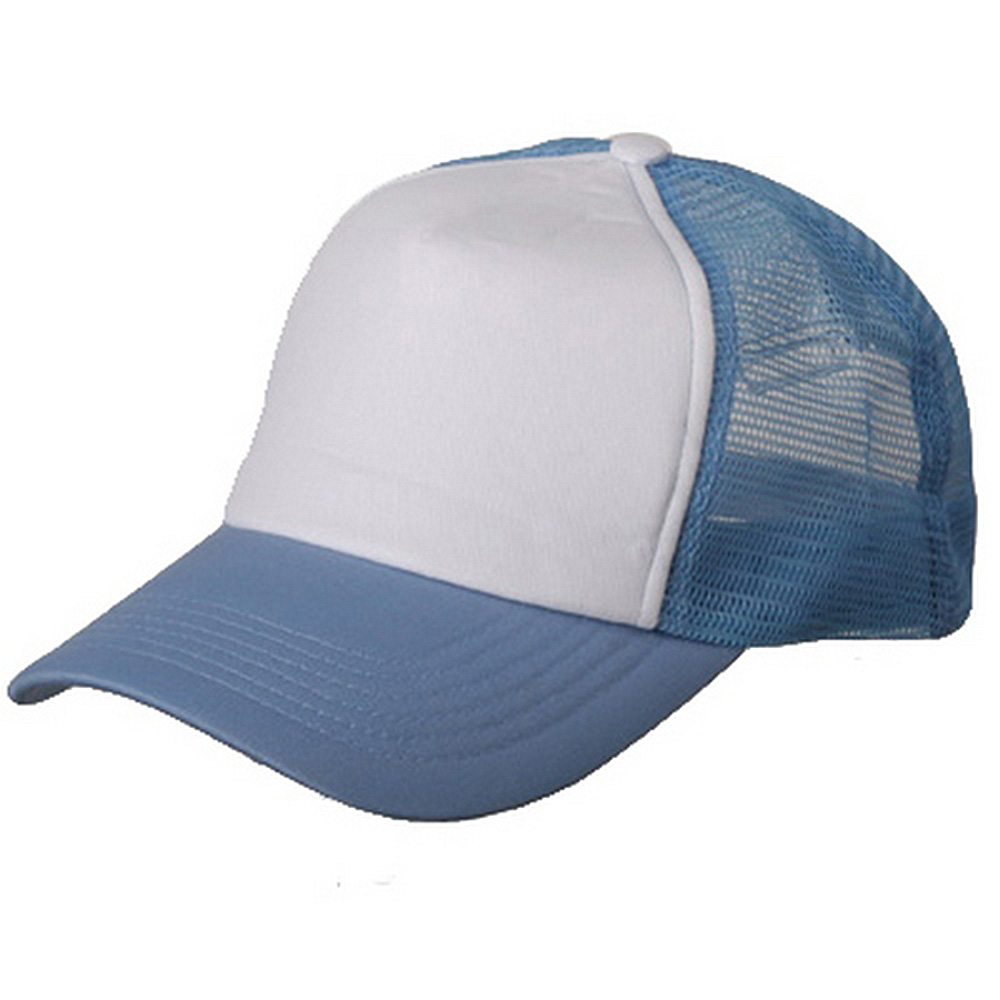 Cotton Trucker Cap-Skyblue White - Hats and Caps Online Shop - Hip Head Gear
