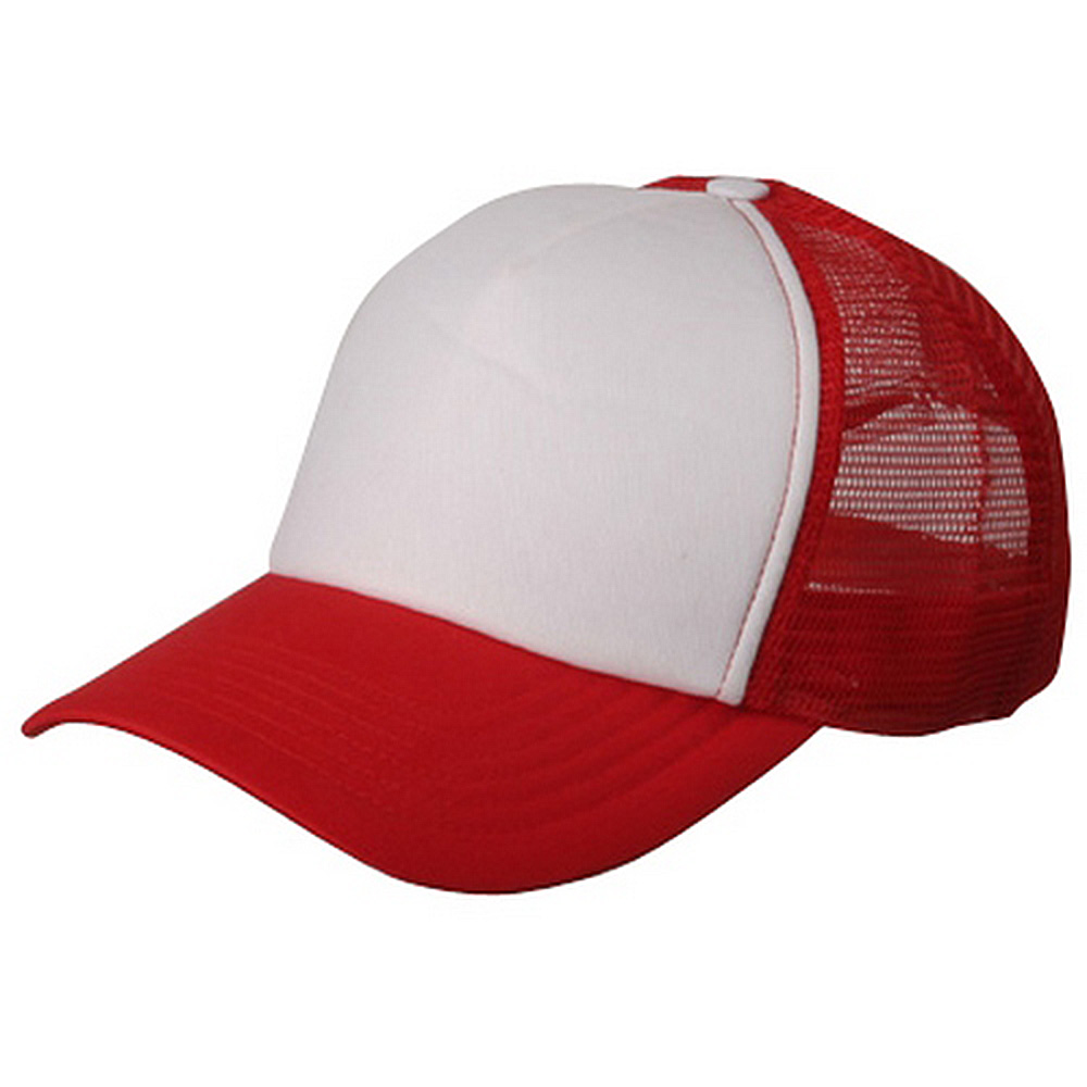 Cotton Trucker Cap-Red White - Hats and Caps Online Shop - Hip Head Gear