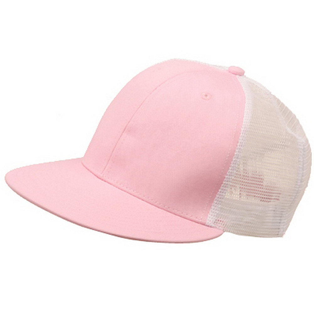 Cotton Twill Mesh Cap-Pink - Hats and Caps Online Shop - Hip Head Gear