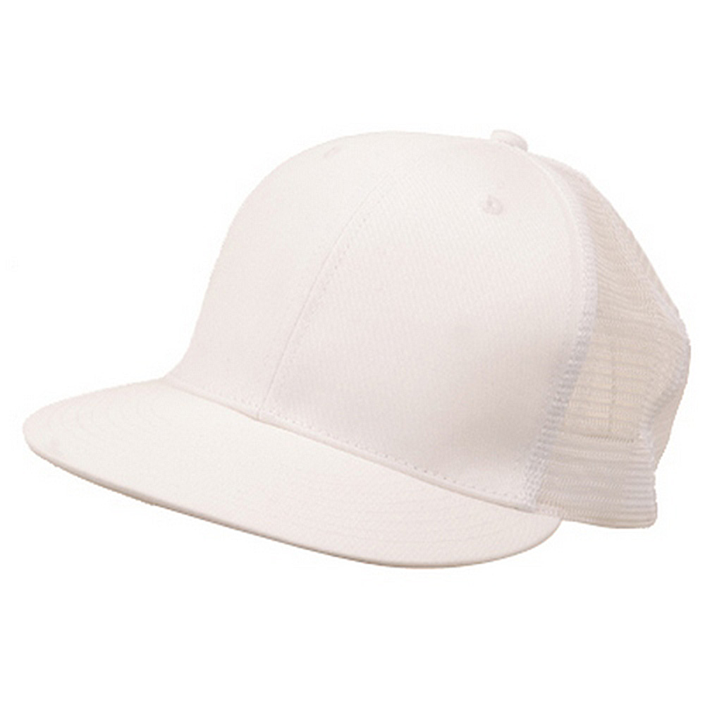 Cotton Twill Mesh Cap-White - Hats and Caps Online Shop - Hip Head Gear
