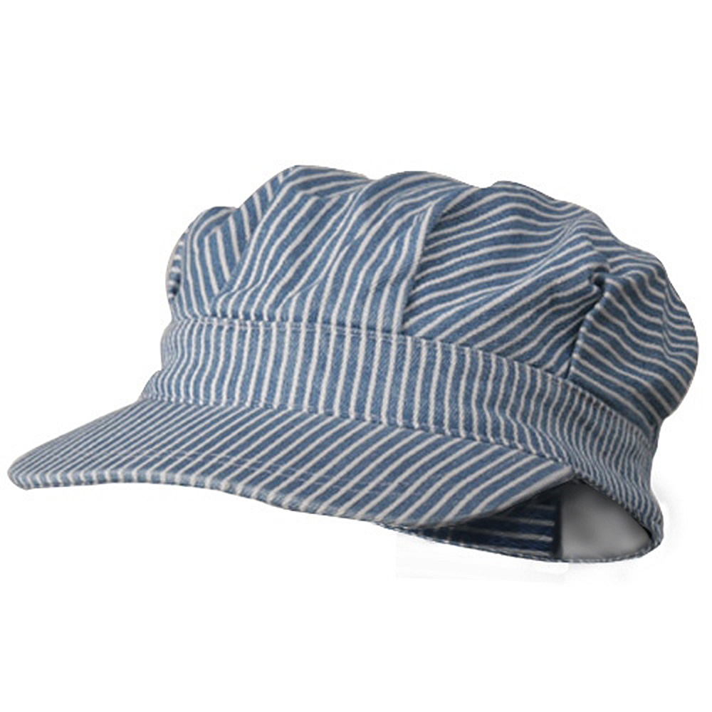 Conductor's Cap-Light Blue Stripe - Hats and Caps Online Shop - Hip Head Gear