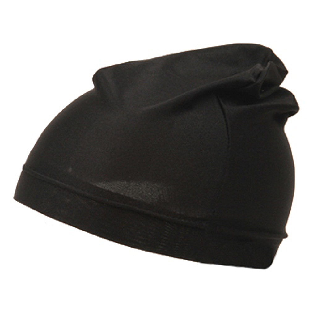 Plain Spandex Skull Cap-Black - Hats and Caps Online Shop - Hip Head Gear
