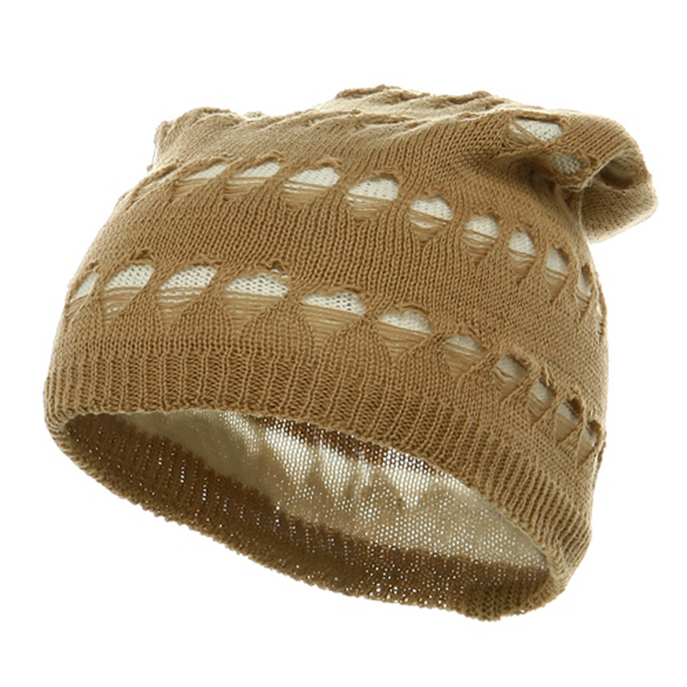 4 Holes New Vintage Beanie - Camel - Hats and Caps Online Shop - Hip Head Gear