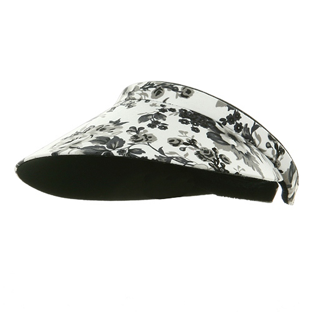 Floral Clip On Visor - Black - Hats and Caps Online Shop - Hip Head Gear