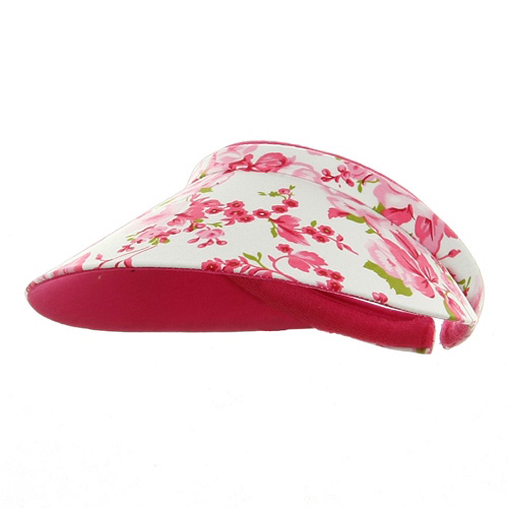 Floral Clip On Visor - Fuchsia - Hats and Caps Online Shop - Hip Head Gear