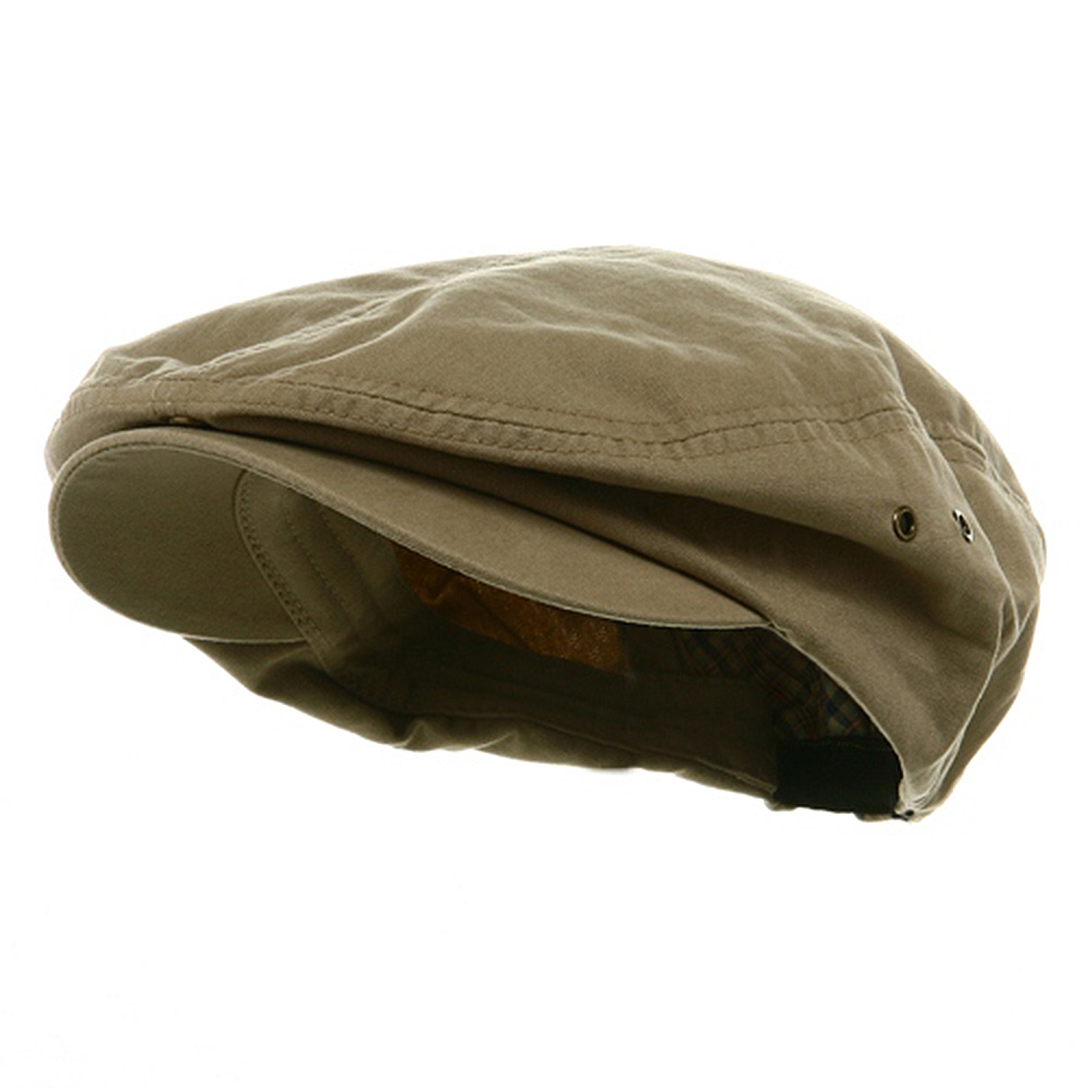 Washed Canvas Ivy Cap - Khaki - Hats and Caps Online Shop - Hip Head Gear