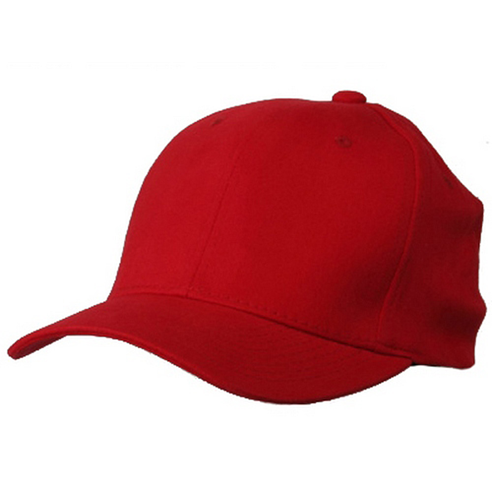 Brushed Cotton Cap (one size)-Red - Hats and Caps Online Shop - Hip Head Gear