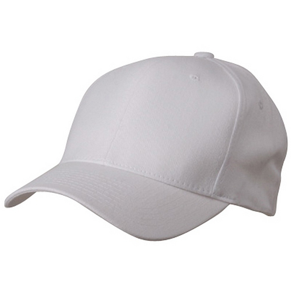 Brushed Cotton Cap (one size)-White - Hats and Caps Online Shop - Hip Head Gear