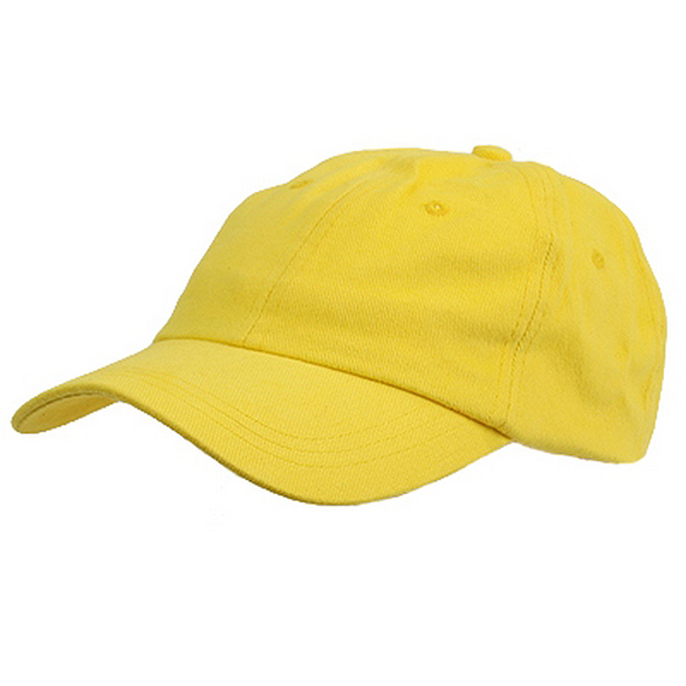 6 Panel Light Cotton Cap / Yellow - Hats and Caps Online Shop - Hip Head Gear