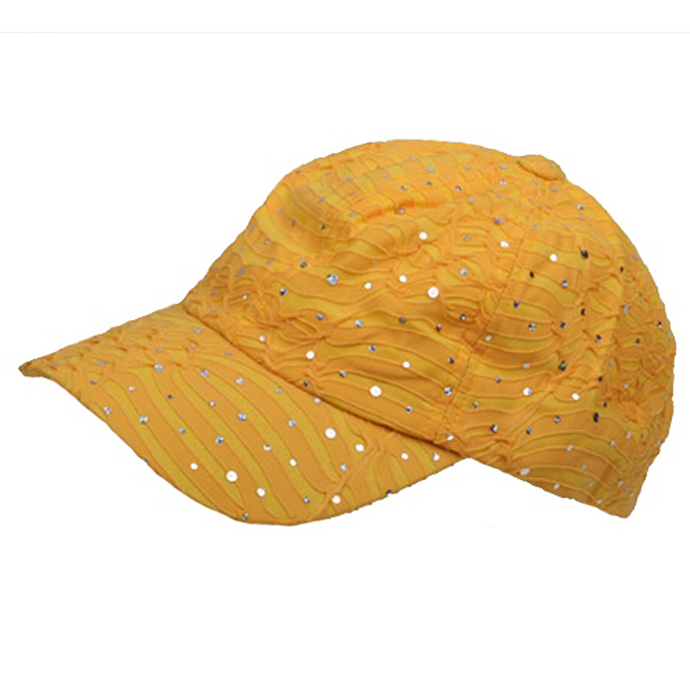 Glitter Caps-Yellow - Hats and Caps Online Shop - Hip Head Gear