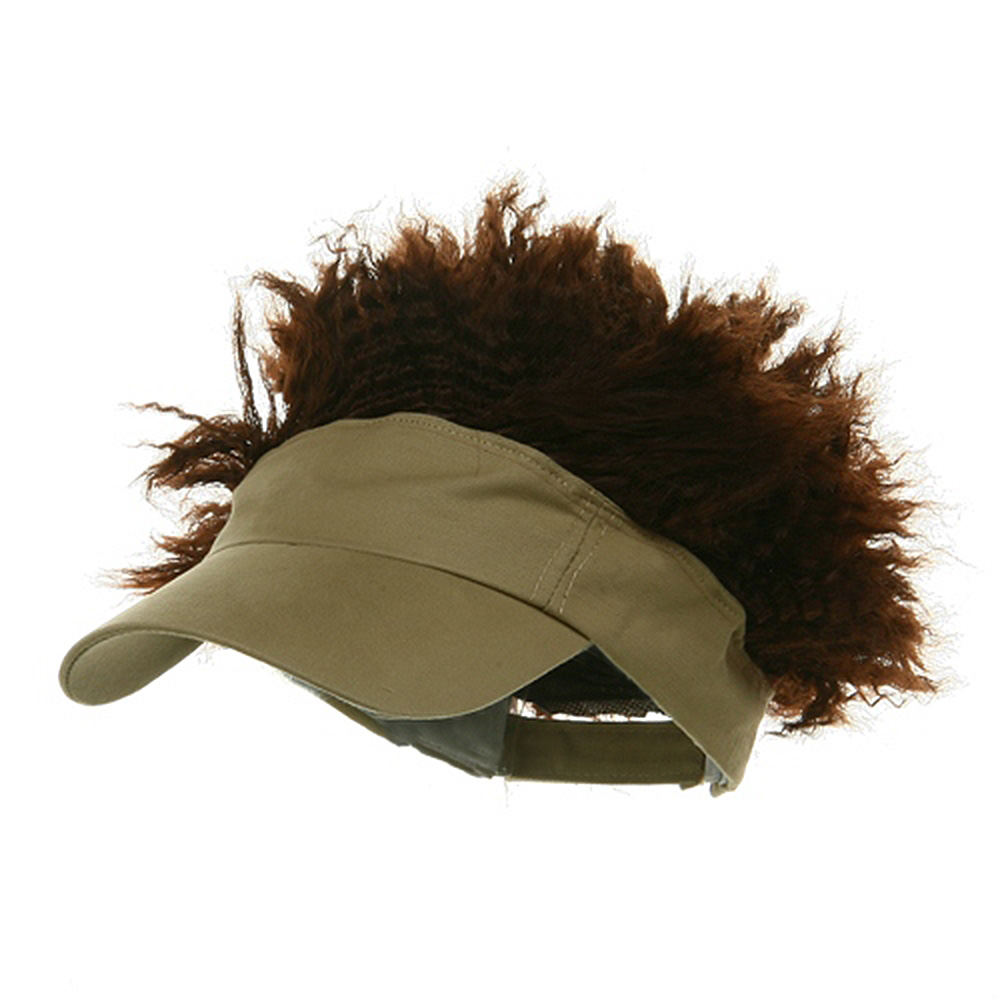 Afro Visor Cap - Tan Brown - Hats and Caps Online Shop - Hip Head Gear