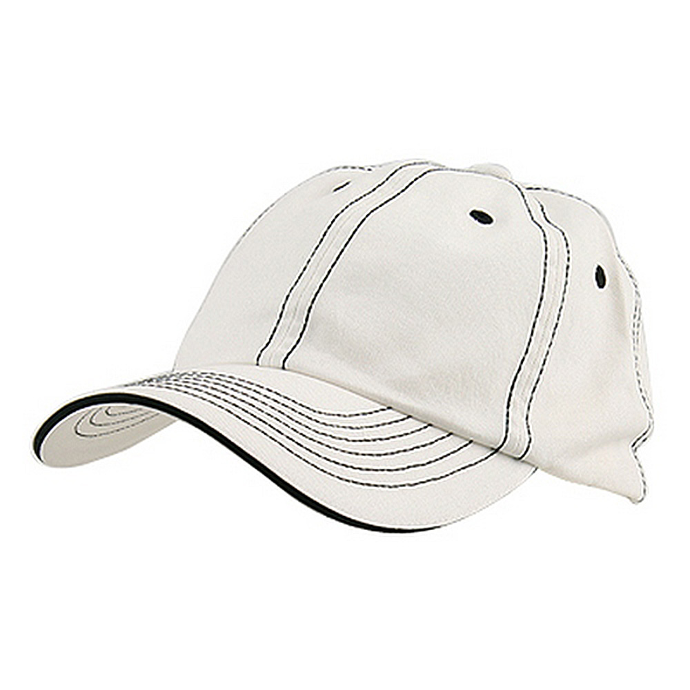 Low Profile Cotton Twill Washed Cap - White White - Hats and Caps Online Shop - Hip Head Gear
