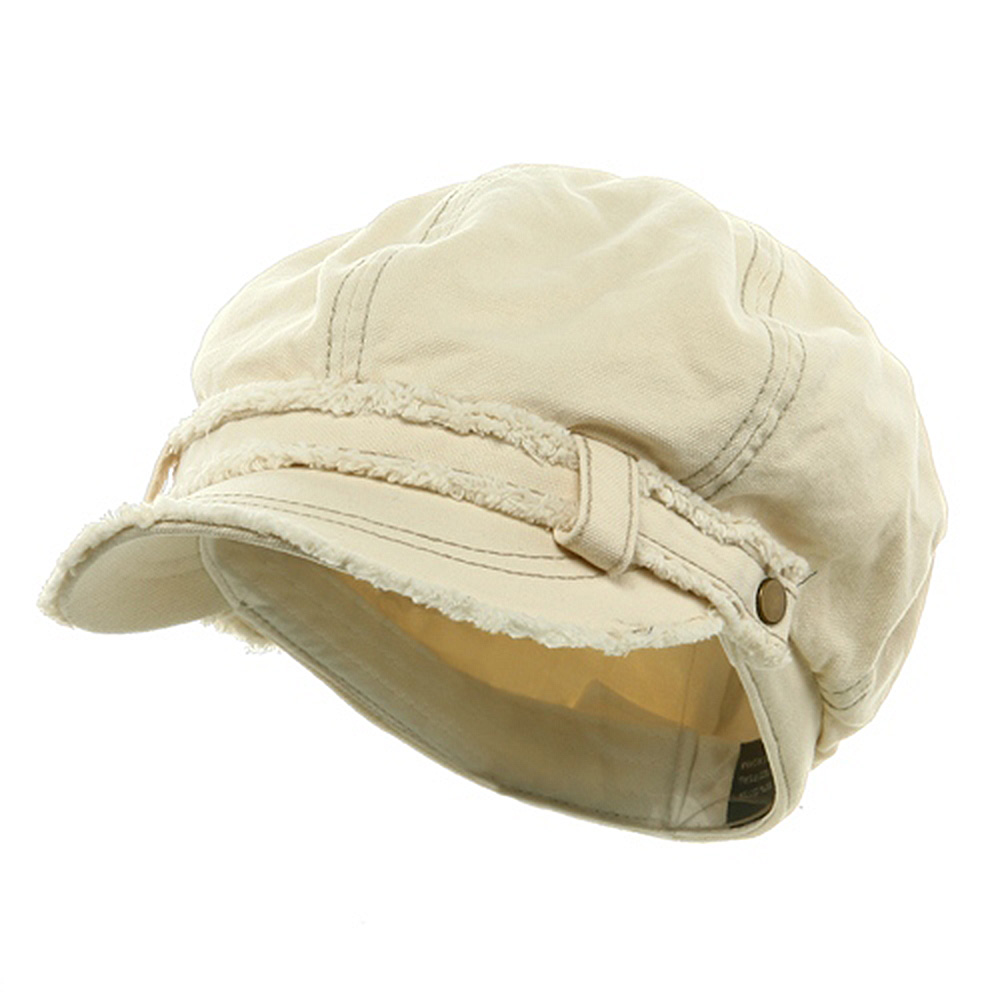 Frayed Washed Newsboy Cap - Natural - Hats and Caps Online Shop - Hip Head Gear