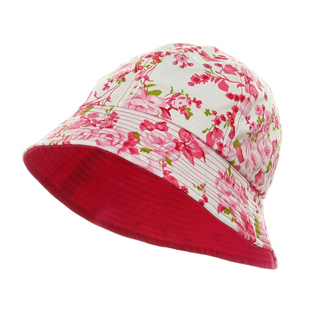 Ladies Floral Bucket Hat - Fuchsia - Hats and Caps Online Shop - Hip Head Gear