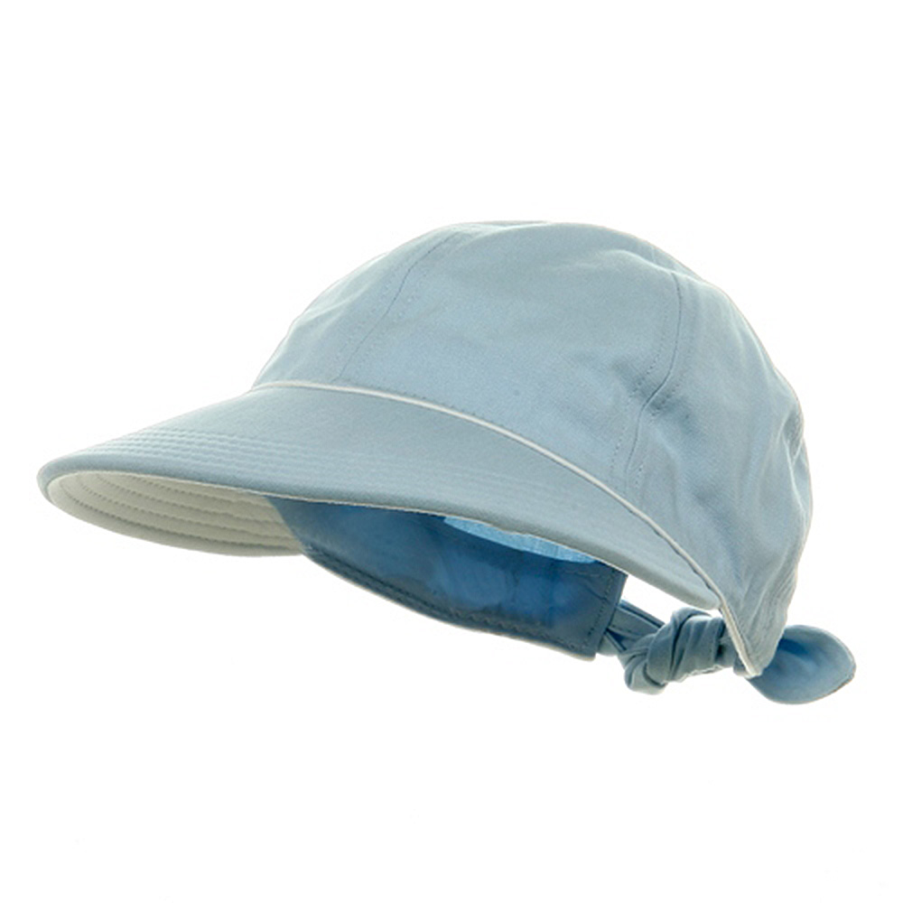 Piping Decoration Ladies Canvas Cap-Lt Blue - Hats and Caps Online Shop - Hip Head Gear