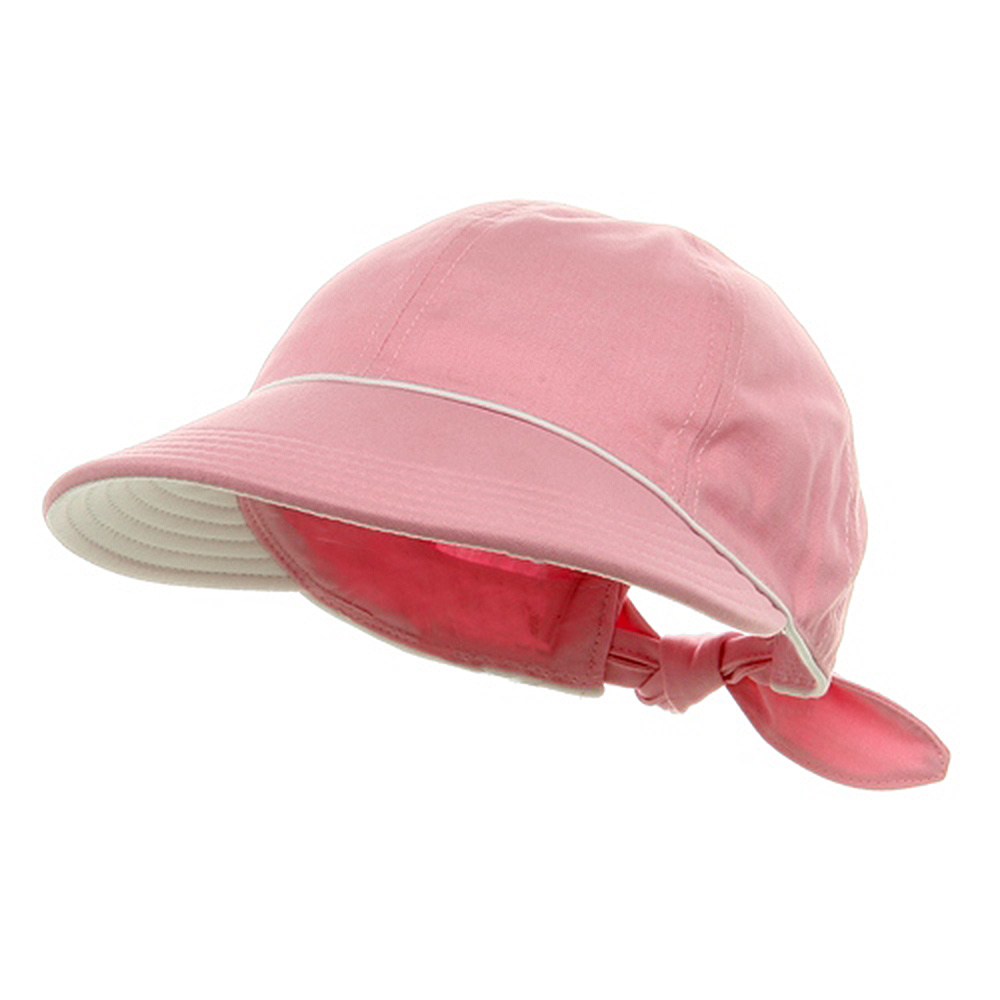 Piping Decoration Ladies Canvas Cap-Pink - Hats and Caps Online Shop - Hip Head Gear