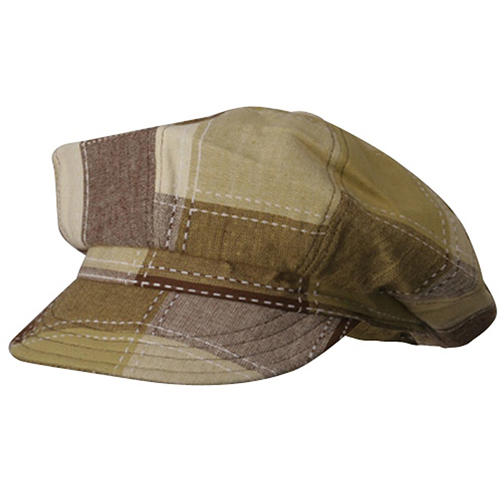 Jean Newsboy Caps-Brown - Hats and Caps Online Shop - Hip Head Gear