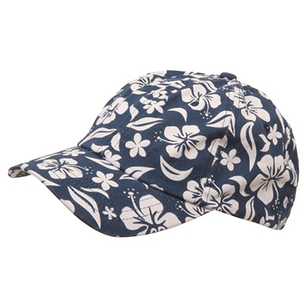 New Hawaiian Pattern Cap-Navy Blue - Hats and Caps Online Shop - Hip Head Gear