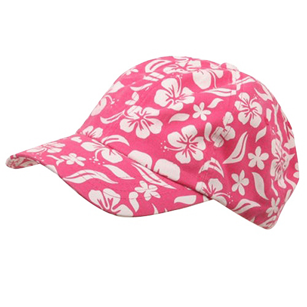 New Hawaiian Pattern Cap-Hot Pink - Hats and Caps Online Shop - Hip Head Gear