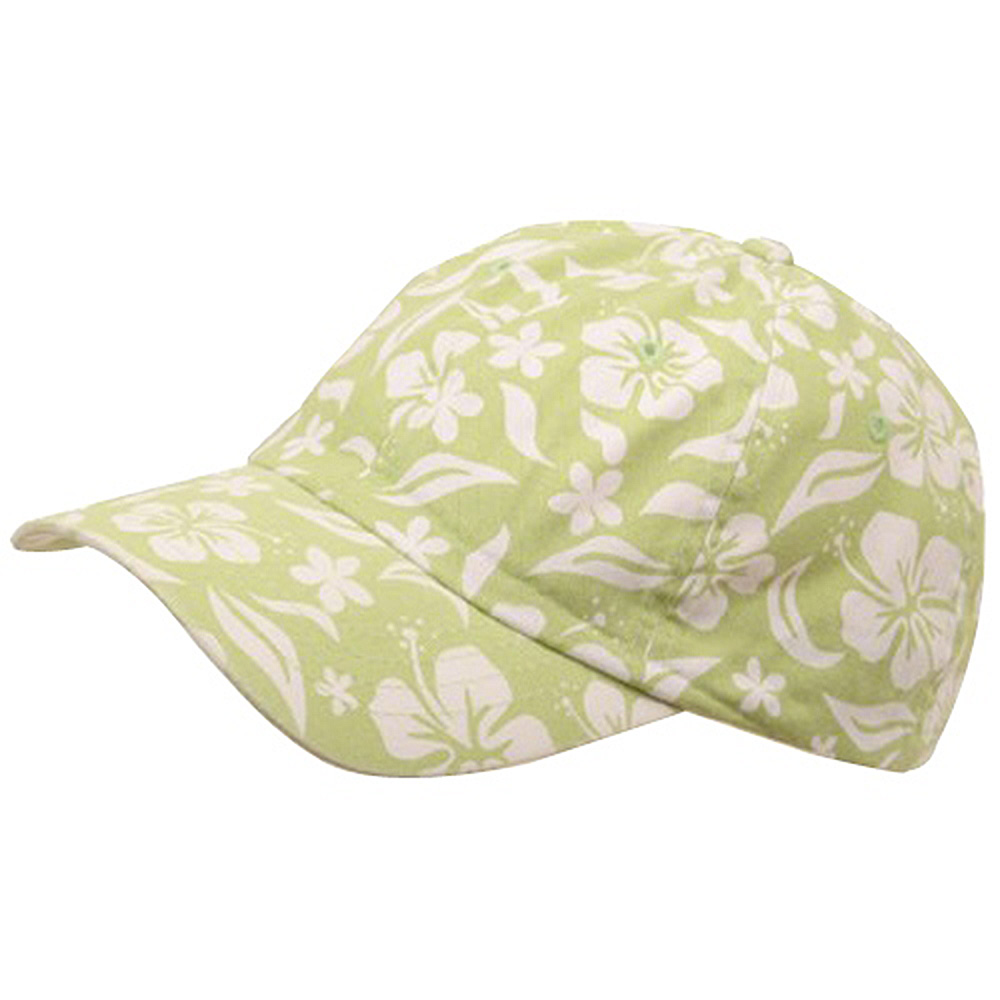 New Hawaiian Pattern Cap-Lime - Hats and Caps Online Shop - Hip Head Gear