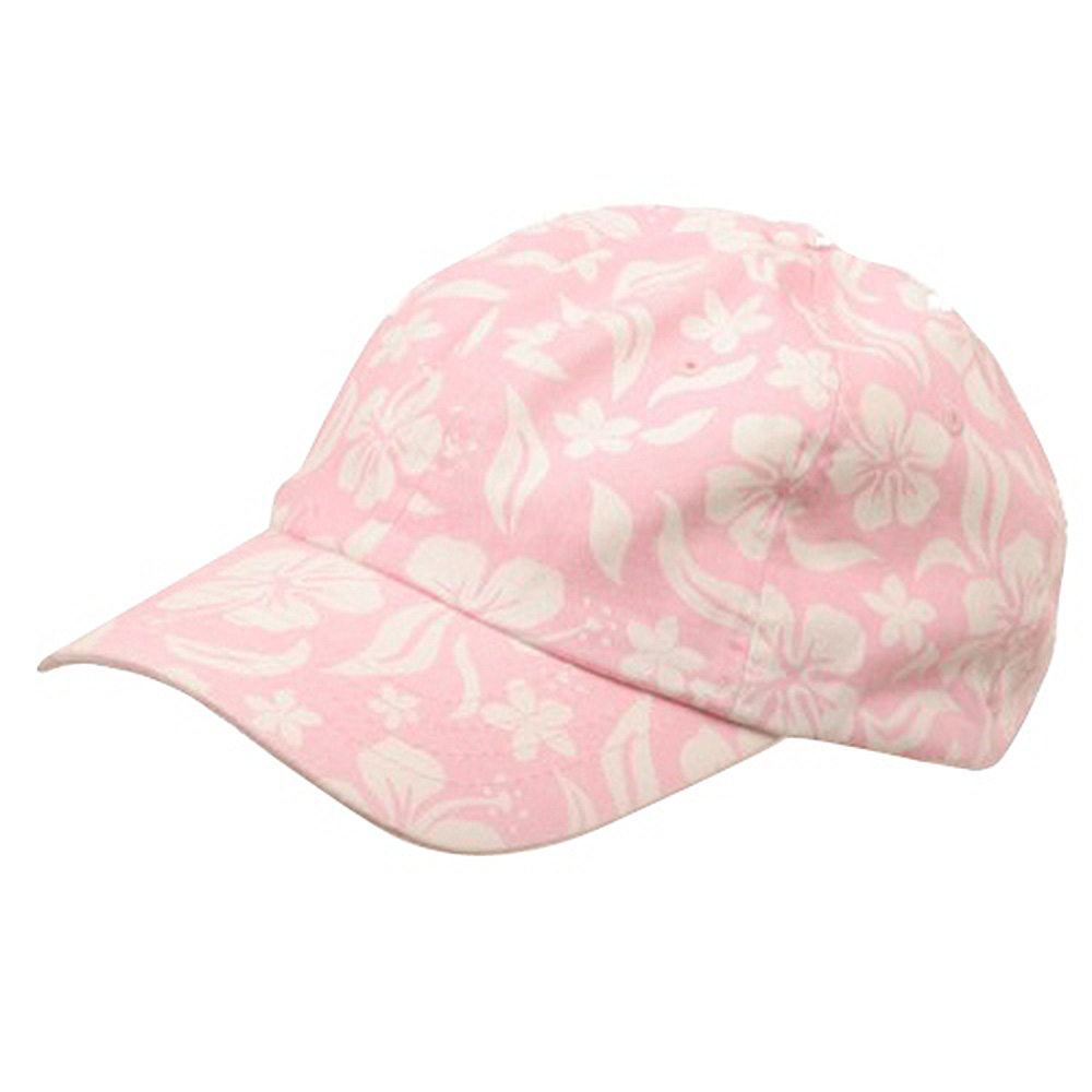 New Hawaiian Pattern Cap-Pink - Hats and Caps Online Shop - Hip Head Gear