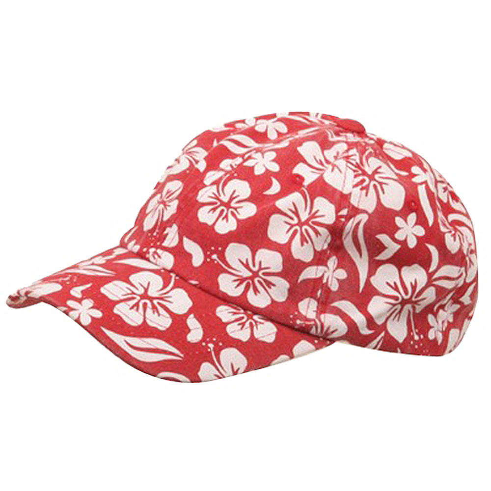 New Hawaiian Pattern Cap-Red - Hats and Caps Online Shop - Hip Head Gear