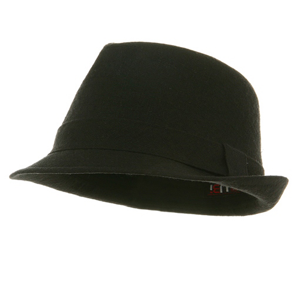 Big New Linen Fedora Hat - Black - Hats and Caps Online Shop - Hip Head Gear