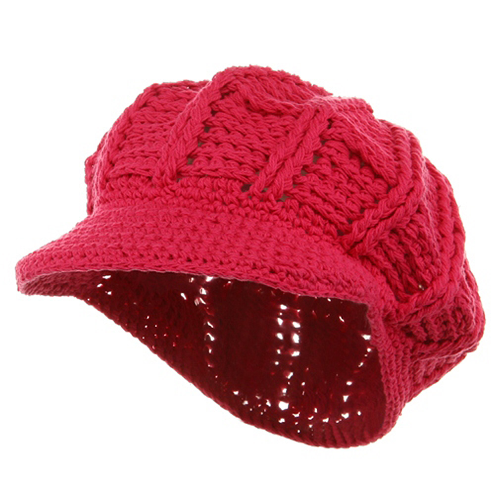 ML Knit Newsboy Hat - Fuchsia - Hats and Caps Online Shop - Hip Head Gear